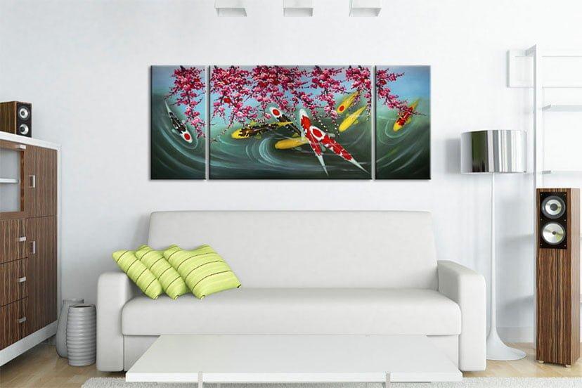 Cá Chép Dưới Bóng Hoa Đào M084