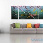Cá Chép Dưới Bóng Hoa Đào M086