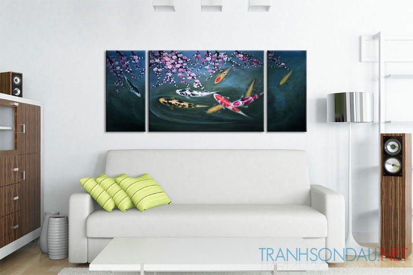 Cá Chép Dưới Bóng Hoa Đào M087