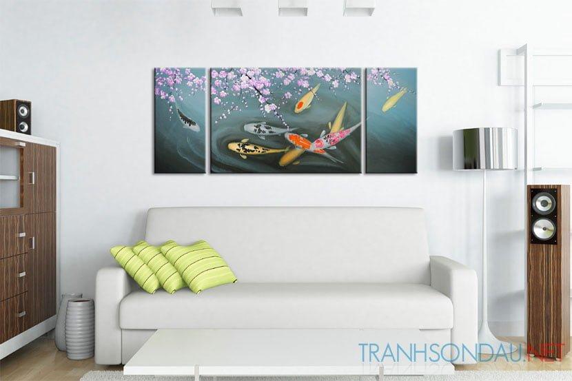 Cá Chép Dưới Bóng Hoa Đào M088