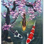 Cá Chép Dưới Bóng Hoa Đào M090