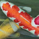 Cá Chép Dưới Bóng Hoa Đào M091