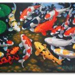 Cá Chép và Hoa Sen M060
