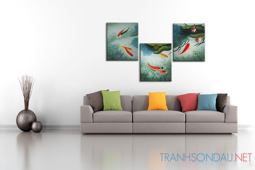 Cá Chép và Hoa Sen M094