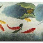 Cá Chép và Hoa Sen M095