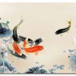 Cá Chép và Hoa Sen M097