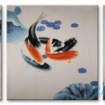 Cá Chép và Hoa Sen M098