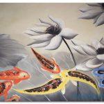 Cá Chép và Hoa Sen M116