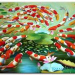 Cá Chép và Hoa Sen M223