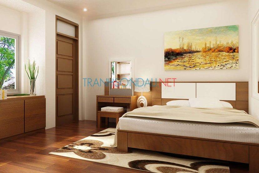 Cách treo tranh sơn dầu cho phòng ngủ
