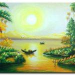Hoàng Hôn Trên Sông Quê M319