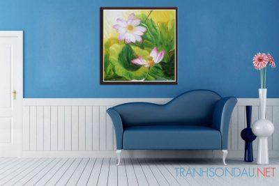 Tranh sơn dầu Hương Sen M423