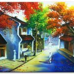 Tranh sơn dầu Phố Cổ Hà Nội M443