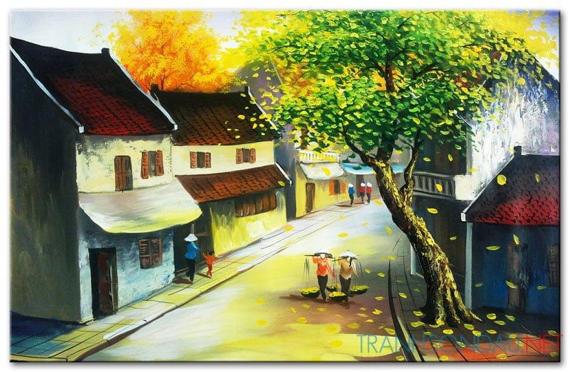Tranh sơn dầu Phố Cổ Hà Nội M457