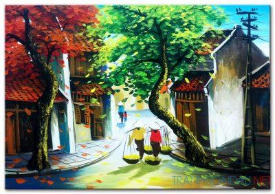 Tranh sơn dầu Phố Cổ Hà Nội M459
