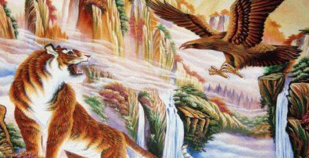 Tranh sơn dầu phong thủy cho người tuổi Tỵ