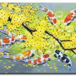 Cá Chép và Hoa Mai M463