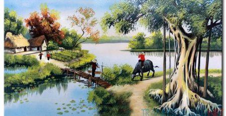 Tranh sơn dầu phong thủy cho người tuổi Ngọ