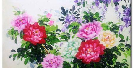 Tranh sơn dầu phong thủy cho người tuổi Hợi