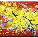 Cá Chép và Hoa Mai M462