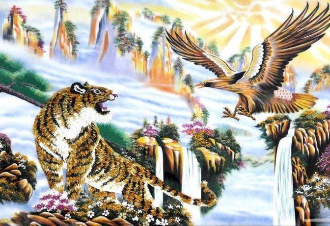 Ý nghĩa tranh sơn dầu Anh Hùng Tương Ngộ