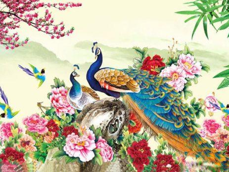 Ý nghĩa tranh sơn dầu Phượng Hoàng và Hoa Mẫu Đơn