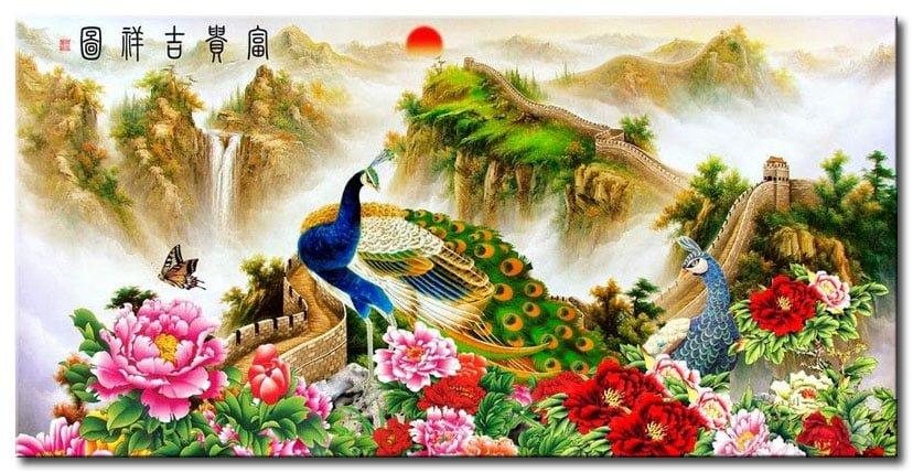 Ý nghĩa tranh sơn dầu Phu Thê Viên Mãn
