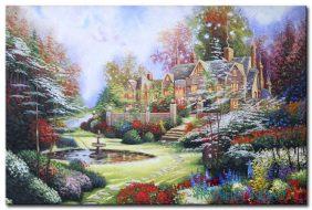 Ngôi Nhà Và Vườn Hoa Nhiều Màu Sắc M1119