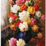 tranh hoa cuc m797
