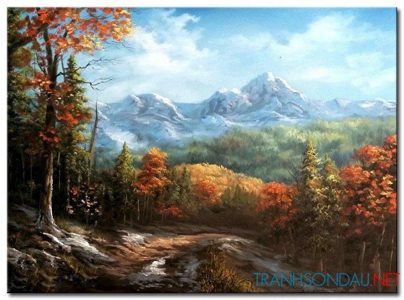 Rừng Lá Đỏ Và Núi Tuyết Trắng M1008