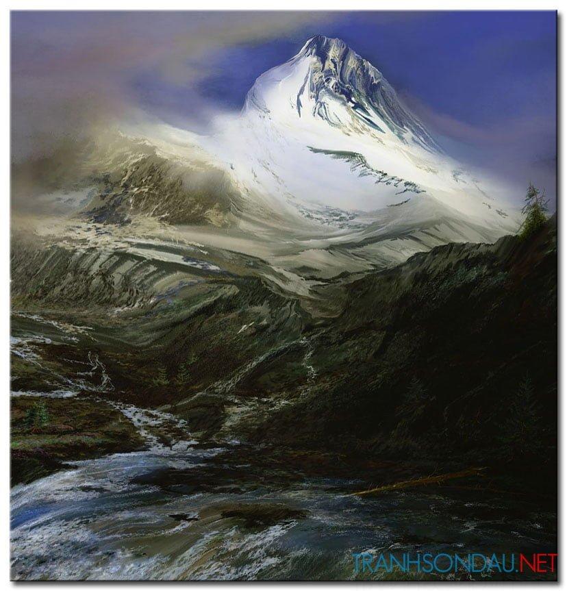 Phong Cảnh Ngọn Núi Hùng Vĩ M1013
