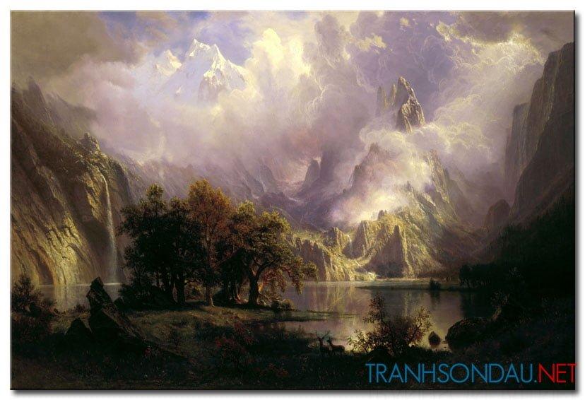 Phong Cảnh Ngọn Núi Hùng Vĩ M1022