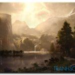 Phong Cảnh Ngọn Núi Hùng Vĩ M1026