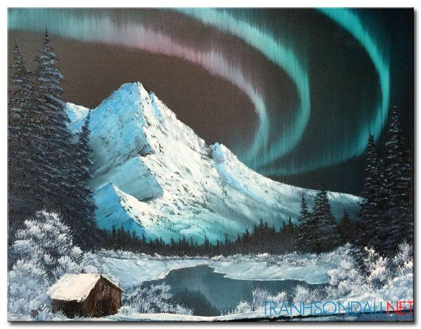 Phong Cảnh Núi Tuyết M1027