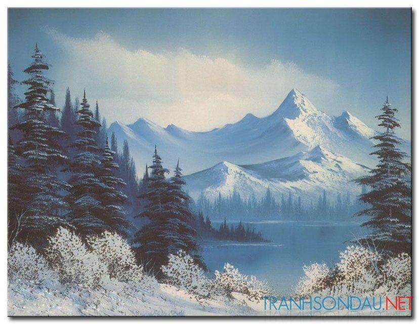 Phong Cảnh Rừng Núi Phủ Tuyết M981