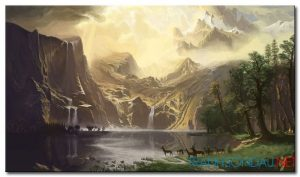 Phong Cảnh Thác Nước Trên Núi M993
