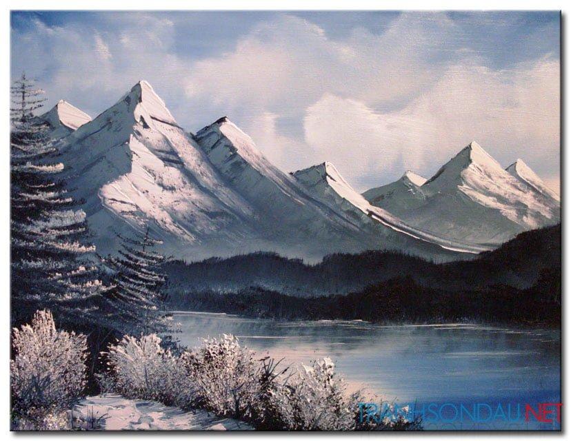 Phong Cảnh Núi Phủ Tuyết M996