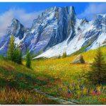 Đồng Cỏ Xanh Và Núi Tuyết M954