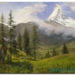 Đồng Cỏ Xanh Và Núi Tuyết M955