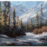 Phong Cảnh Núi Tuyết M963