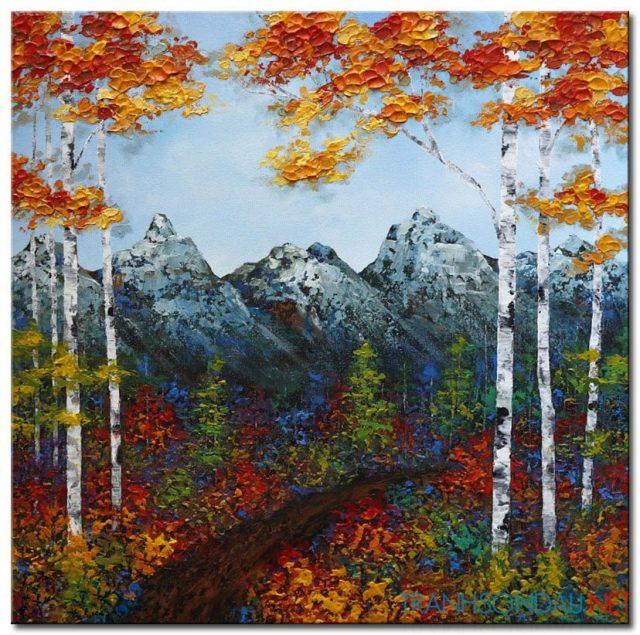 Núi Tuyết Và Cây Lá Đỏ M964