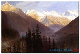 Phong Cảnh Ngọn Núi Hùng Vĩ M969