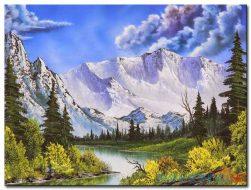 Phong Cảnh Núi Tuyết M974