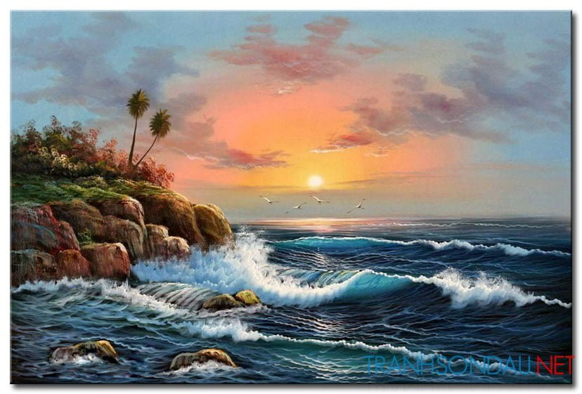 Bình Minh Trên Biển M1787