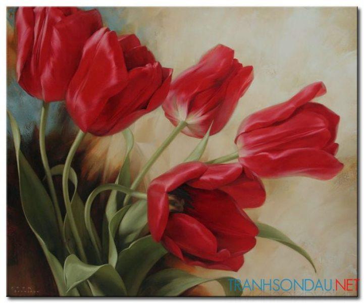 Hoa Tulip Đỏ M1232