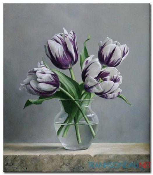 Bình Hoa Tulip Khoe Sắc M1253