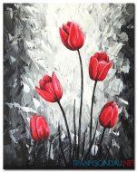 Hoa Tulip Đỏ M1256
