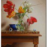 Bình Hoa Tulip Khoe Sắc M1258
