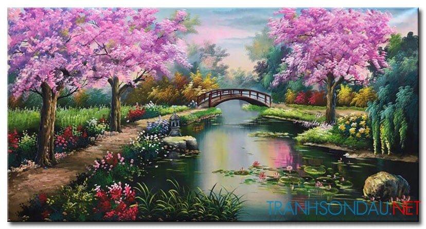 Phong Cảnh Mùa Xuân M1869