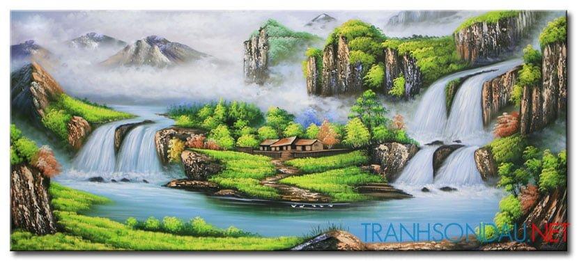 Tranh Sơn Thủy M2124